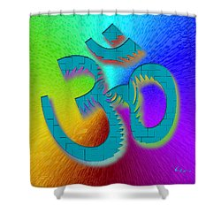 Big Ohm Shower Curtain