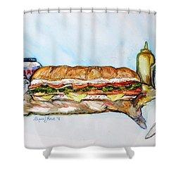 Big Ol Samich Shower Curtain