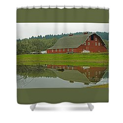 Shower Curtain featuring the photograph Big Red by Nick  Boren