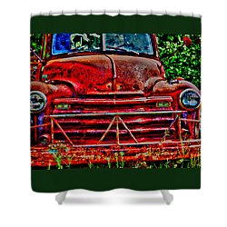 Big Red  Shower Curtain by Toni Hopper