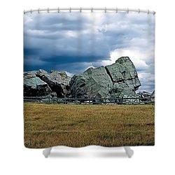 Big Rock 2 Shower Curtain by Terry Reynoldson
