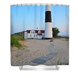 Big Sable Point Great Lakes Lighthouse Shower Curtain