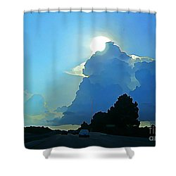 Big Sky Blue Shower Curtain by John Malone