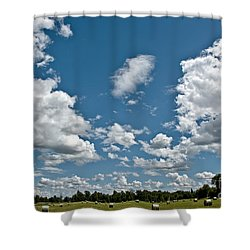 Big Sky Shower Curtain by Cheryl Baxter