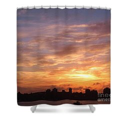 Big Sky Over Halifax Harbour Shower Curtain by John Malone