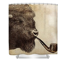 Big Smoke Shower Curtain by Eric Fan