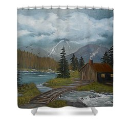 Big Storms A Comin' Shower Curtain by Sheri Keith