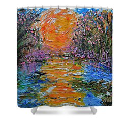 Big Sun Shower Curtain by Alys Caviness-Gober