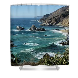 Big Sur Coast From Julia Pfeiffer Burns Shower Curtain by Suzanne Luft