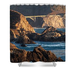 Big Sur Coastal Serenity Shower Curtain