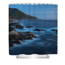 Big Sur Coastline Shower Curtain by Mike Reid