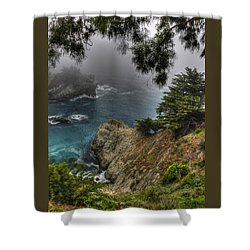 Big Sur Julia Pfeiffer State Park-1 Central California Coast Spring Early Afternoon Shower Curtain by Michael Mazaika
