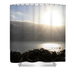 Big Sur Sunset Shower Curtain by Linda Woods
