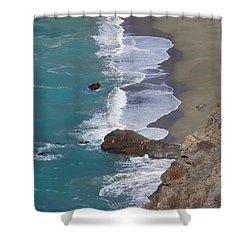Big Sur Surf Shower Curtain