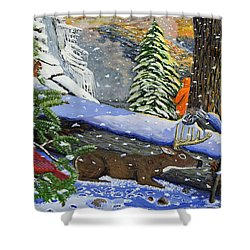 Big Timber Buck Shower Curtain