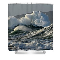 Big Waves At Clogher Beach Shower Curtain