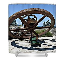 Big Wheel Shower Curtain by Richard Reeve