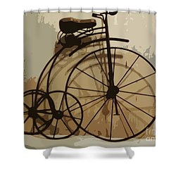 Big Wheel Trike Shower Curtain by Ecinja Art Works