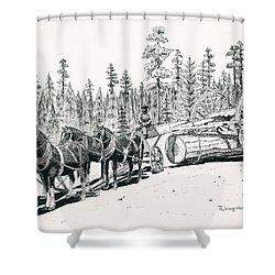 Big Wheels Shower Curtain