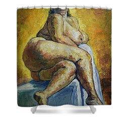 Big Woman Shower Curtain