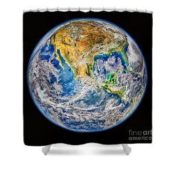 Biggest Image Of Earth Ever N. A. S. A Shower Curtain by Bob and Nadine Johnston