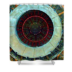 Bight Jet Shower Curtain by Sally Simon