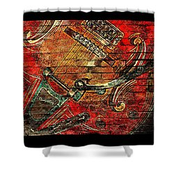 Bigsby Faux Mural Shower Curtain