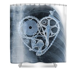 bike lover X-ray Shower Curtain
