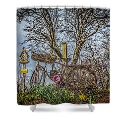 Bike Magic Shower Curtain by Ray Congrove