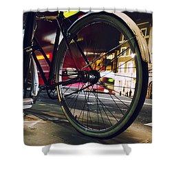 Bike On Whitehall  Shower Curtain