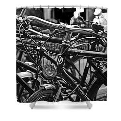 Bike Parking In Switzerland Shower Curtain