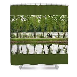 Shower Curtain featuring the photograph Bike Path by PJ Boylan