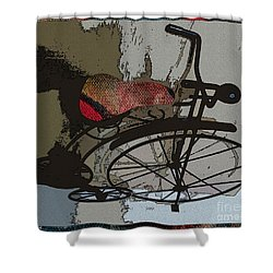 Bike Seat View Shower Curtain by Ecinja