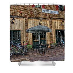 Bike Shop Cafe Katty Trail St Charles Mo Dsc00860 Shower Curtain