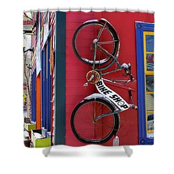 Shower Curtain featuring the photograph Bike Shop by Fiona Kennard