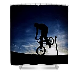 Bike Silhouette Shower Curtain