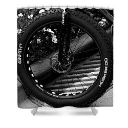 Bike Tire Shower Curtain