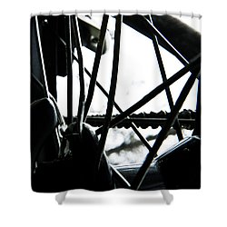 Bike Wheel Shower Curtain