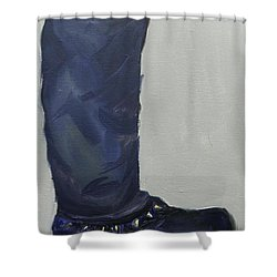 Biker Boot Shower Curtain