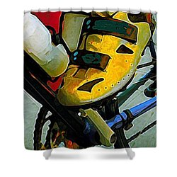 Biker Boy Foot Shower Curtain