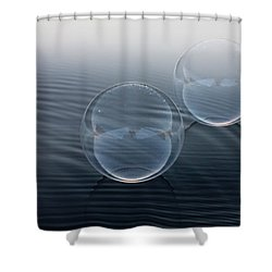 Biker Bubbles Shower Curtain