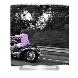 Biker Shower Curtain