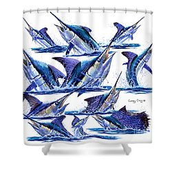 Bill Heads Shower Curtain by Carey Chen