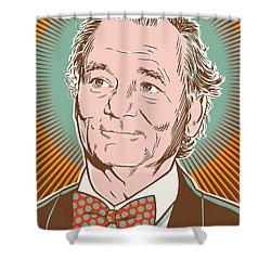 Bill Murray Pop Art Shower Curtain by Jim Zahniser