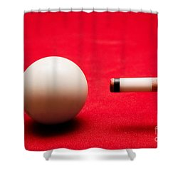Billards Pool Game Shower Curtain by Michal Bednarek