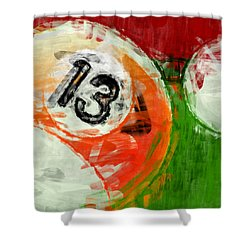 Billiards 13 Shower Curtain by David G Paul