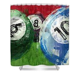 Billiards 6 8 10 Shower Curtain by David G Paul