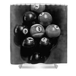 Billiards Art - Your Break - Bw  Shower Curtain by Lesa Fine