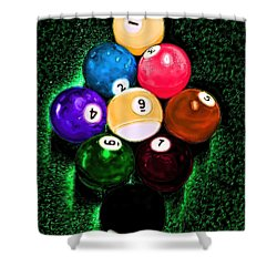 Billiards Art - Your Break Shower Curtain by Lesa Fine