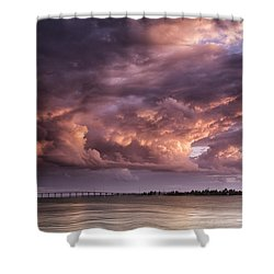 Billowing Clouds Shower Curtain